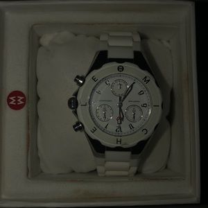 Michele Tahitian Jelly Bean Large White Watch